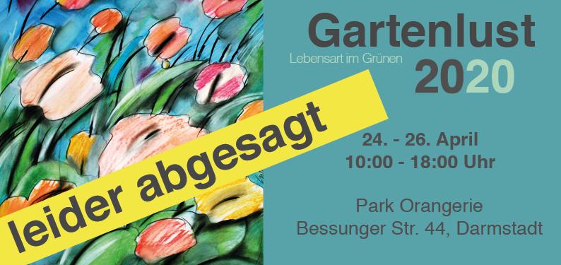 Absage Gartenlust 2020 in der Orangerie